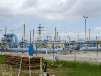 Image showing the Colonial Pipeline Houston Station facility in Pasadena, Texas (East of Houston) taken on May 10, 2021. - US President Joe Biden said that a Russia-based group was behind the ransomware attack that forced the shutdown of the largest oil pipeline in the eastern United States. The FBI …