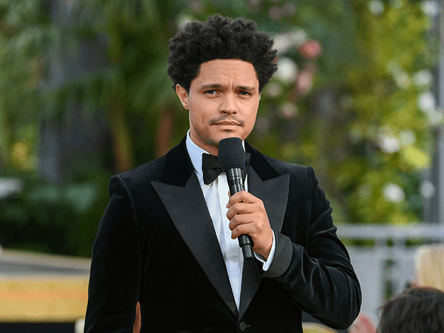 Trevor Noah speaks onstage during the 63rd Annual GRAMMY Awards at Los Angeles Convention Center on March 14, 2021 in Los Angeles, California. (Photo by Kevin Winter/Getty Images for The Recording Academy)