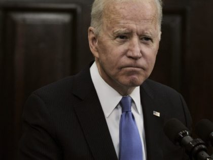 WASHINGTON, DC - MAY 13: U.S. President Joe Biden delivers remarks on the Colonial Pipeline incident in the Roosevelt Room of the White House May 13, 2021 in Washington, DC. President Biden said his administration doesn't believe the Russian government was behind the pipeline attack and the fuel shortages should …