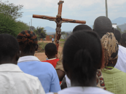 Catholic Church faithfuls take part in a proccession, to re-enact the crucifixion of Jesus Christ, on April 3, 2015 in Machakos, during the Holy Week celebrations. Easter marks the end of Lent, a forty-day period of fasting, prayer, and penance.The last week of the Lent is called Holy Week, and …