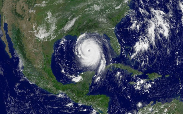IN SPACE - AUGUST 28: In this satellite image from NOAA, Hurricane Katrina is seen in the Gulf of Mexico August 28, 2005. According to reports, the storm has sustianed winds of nearly 175 mph and is expected to make landfall in the Gulf Coast as early as August 29. …