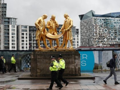 Britain's ruling Conservative party will hold its annual conference at the ICC in Birmingham from October 2. / AFP / Adrian DENNIS (Photo credit should read ADRIAN DENNIS/AFP via Getty Images)