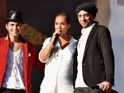 Idan Raichel and Alicia Keys (Photo by Theo Wargo/Getty Images for Global Citizen Festival)