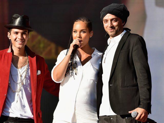 Idan Raichel and Alicia Keys (Photo by Theo Wargo/Getty Images for Global Citizen Festival)