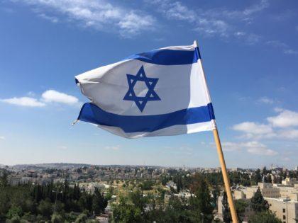 Israeli flag (Joel Pollak / Breitbart News)