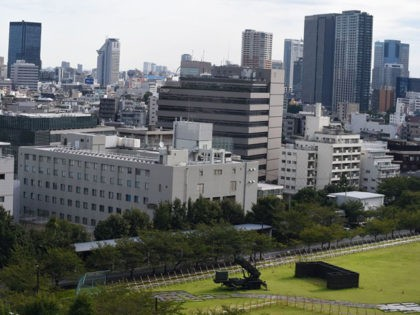 A Japanese Self-Defence Force Patriot Advanced Capability-3 (PAC-3) missile launcher is seen at its position in the Defence Ministry headquarters in Tokyo on September 15, 2017. North Korea launched a ballistic missile over Japan on September 15, which seems to have fallen on the Pacific Ocean, the Japanese government said …
