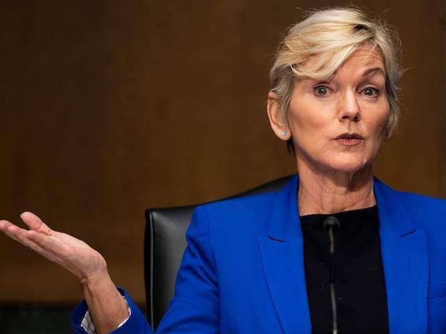 Former Michigan Governor Jennifer Granholm testifies before the Senate Energy and Natural Resources Committee during a hearing to examine her nomination to be Secretary of Energy, on Capitol Hill in Washington, DC, on January 27, 2021. (Photo by JIM WATSON / POOL / AFP) (Photo by JIM WATSON/POOL/AFP via Getty …