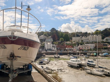 ST HELIER, JERSEY - APRIL 13: Boats are seen at low tide in the harbour in St Aubin on April 13, 2017 near St Helier, Jersey. Jersey, which is not a member of the European Union, is one of the top worldwide offshore financial centres, described by some as a …