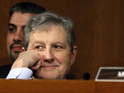 Sen. John Kennedy, R-La., listens as President Donald Trump's Supreme Court nominee, Brett Kavanaugh, testifies before the Senate Judiciary Committee on Capitol Hill in Washington, Wednesday, Sept. 5, 2018, on the second day of his confirmation hearing to replace retired Justice Anthony Kennedy. (AP Photo/Jacquelyn Martin)