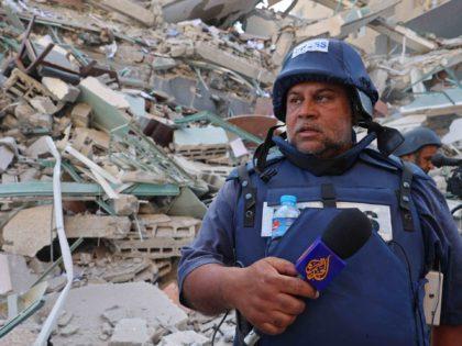 Journalists tower Gaza Al Jazeera (Mohammed Abed / AFP / Getty)
