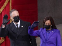 Kamala Harris, Husband Kiss While Wearing Face Masks