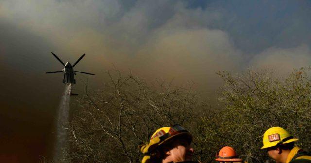 L.A. Fire Dept. Battles Blaze Using Lot Considered for Temporary Homeless Housing
