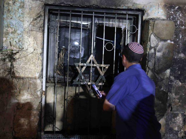 Lod synagogue attack (Ahmad Gharabli / Getty)