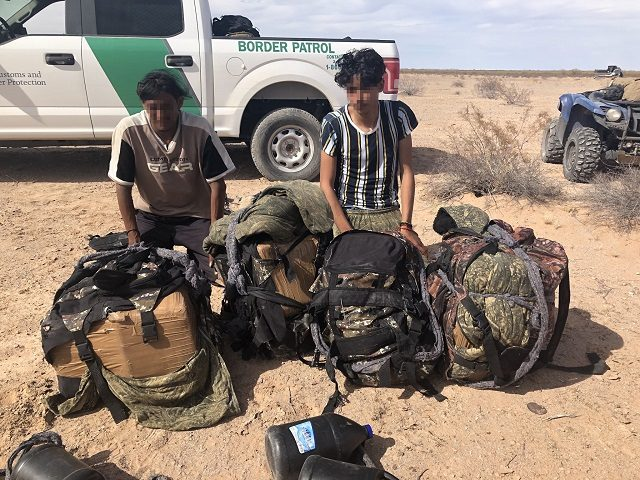 Yuma Sector Border Patrol agents apprehended four large groups of migrants carrying nearly $1 million worth of methamphetamine. (Photo: U.S. Border Patrol/Yuma Sector)