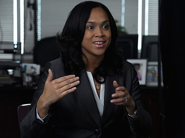 BALTIMORE, MD - AUGUST 24: State's Attorney for Baltimore, Maryland, Marilyn J. Mosby is interviewed by Shoshana Guy, Senior Producer NBC News (not pictured) on August 24, 2016 in Baltimore, Maryland. (Photo by Larry French/Getty Images for BET Networks)