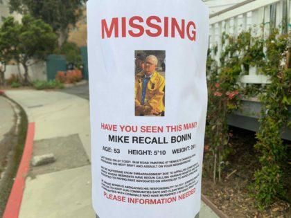 Mike Bonin missing poster (Joel Pollak / Breitbart News)