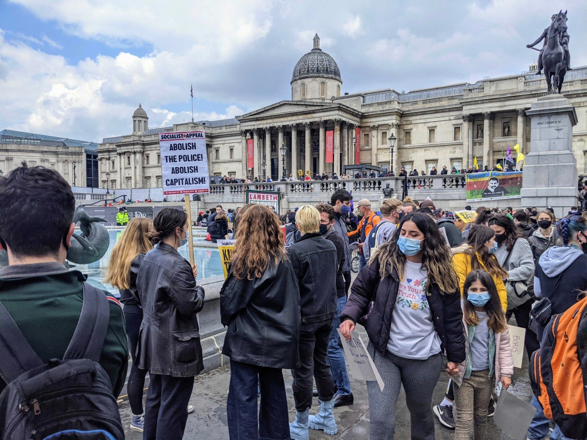 "Thousands of leftist activists marched through London to protest against the proposed policing bill as well as the ""racist"" system in Britain on May Day, May 1st, 2021. Kurt Zindulka, Breitbart News"