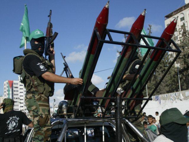 Palestinian Hamas rockets (Mahmud Hams / AFP / Getty)