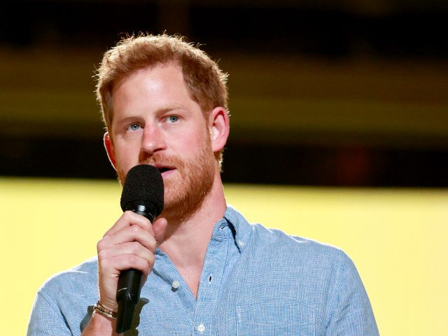INGLEWOOD, CALIFORNIA: In this image released on May 2, Prince Harry, The Duke of Sussex speaks onstage during Global Citizen VAX LIVE: The Concert To Reunite The World at SoFi Stadium in Inglewood, California. Global Citizen VAX LIVE: The Concert To Reunite The World will be broadcast on May 8, …