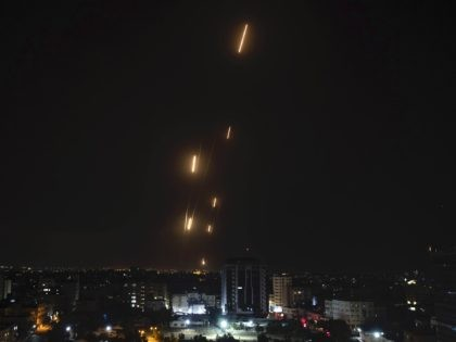 WATCH: Massive Palestinian Rocket Barrage Targets Israeli Cities