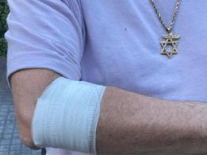 Las Vegas Strip antisemitism victim (Dov Hikind / Twitter)
