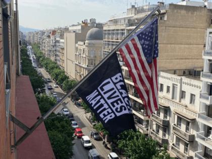 Black Lives Matter flag flies at U.S. Consulate, Thessaloniki, Greece (U.S. Consulate, Thessaloniki, Greece / Twitter)