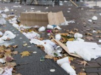 Partiers Leave New York's Washington Square Park Littered with Trash