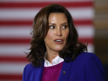 Gov. Gretchen Whitmer introduces Democratic presidential nominee Joe Biden delivers remarks about health care at Beech Woods Recreation Center October 16, 2020 in Southfield,m Michigan. With 18 days until the election, Biden is campaigning in Michigan, a state President Donald Trump won in 2016 by less than 11,000 votes, the …