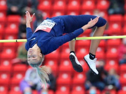 Women's track and field jump
