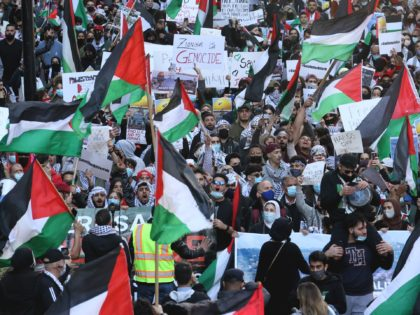 Pictures: Anti-Israel Protesters March in Chicago Cheering Palestinian Terror Attacks