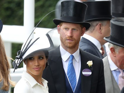 ASCOT, ENGLAND - JUNE 19: Meghan, Duchess of Sussex, Prince Harry, Duke of Sussex and Prince Charles, Prince of Wales attend Royal Ascot Day 1 at Ascot Racecourse on June 19, 2018 in Ascot, United Kingdom. (Photo by Chris Jackson/Getty Images)