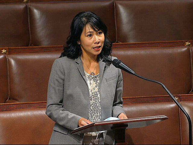 In this image from video, Rep. Stephanie Murphy, D-Fla., speaks on the floor of the House of Representatives at the U.S. Capitol in Washington, Thursday, April 23, 2020. (House Television via AP)