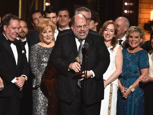 "NEW YORK, NY - JUNE 11: Producer Scott Rudin and the cast of Hello, Dolly!"" accept the award for Best Revival of a Musical onstage during the 2017 Tony Awards at Radio City Music Hall on June 11, 2017 in New York City. (Photo by Theo Wargo/Getty Images for Tony …"