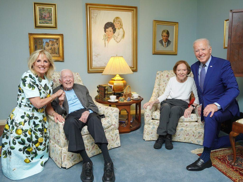 Nolte: Bidens Go Maskless During Visit with Elderly, Frail Carters