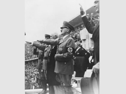 August 1936: Adolf Hitler at the 1936 Olympic Games which were held in Berlin. (Photo by Fox Photos/Getty Images)