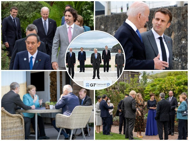 Delingpole: No Masks, No Distancing – The Disgraceful Covid Hypocrisy of the G7 Elite