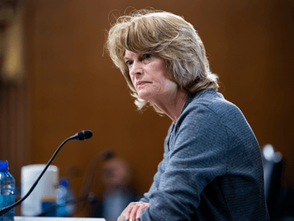 Sen. Lisa Murkowski, R-Alaska, speaks during a Senate Energy and Natural Resources Committee confirmation hearing for presidential appointees, on Capitol Hill in Washington, Tuesday, May 18, 2021. Murkowski joined Sen. Joe Manchin, D-W.Va., this week in calling on Congress to reauthorize the Voting Rights Act rather than struggle with the …