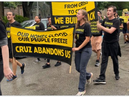Climate Protesters at Ted Cruz's Home