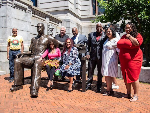 WATCH: 700 Pound Statue of George Floyd Unveiled in New Jersey