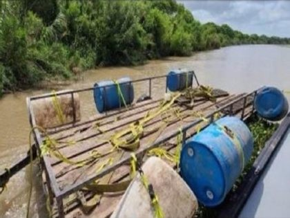 Border Patrol agents find a makeshift ferry used to smuggle drugs across the Rio Grande. (Photo: U.S. Border Patrol)