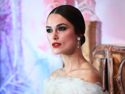 LONDON, ENGLAND - NOVEMBER 01: Keira Knightley attends the UK Premiere of Disney's 'The Nutcracker And The Four Realms' at Vue Westfield on November 01, 2018 in London, England. (Photo by Gareth Cattermole/Getty Images for Disney)