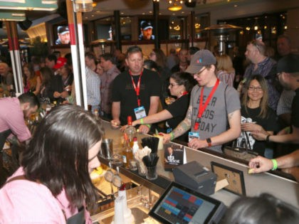 LAS VEGAS, NEVADA - MARCH 26: Guests attend the Bar Rescue Happy Hour with Jon Taffer at Mabel's BBQ in Palms Casino during the 34th annual Nightclub & Bar Convention and Trade Show on March 26, 2019 in Las Vegas, Nevada. (Photo by Gabe Ginsberg/Getty Images for Nightclub & Bar …
