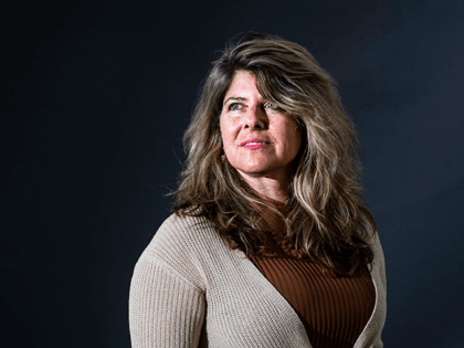 American liberal progressive feminist author, journalist, and former political advisor to Al Gore and Bill Clinton Naomi Wolf attends a photocall during Edinburgh International Book Festival 2019 on August 12, 2019 in Edinburgh, Scotland. (Photo by Simone Padovani/Awakening/Getty Images)
