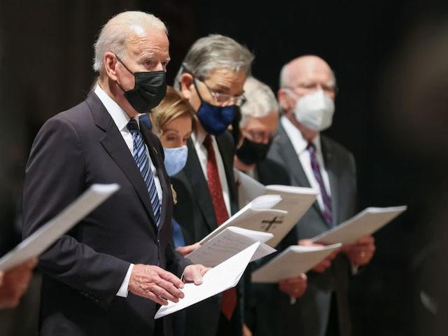 Joe Biden, Nancy Pelosi Wear Masks to Funeral Service Despite Being Fully Vaccinated