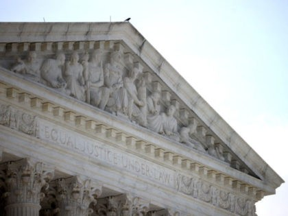 WASHINGTON, DC - JUNE 21: The U.S. Supreme Court is shown June 21, 2021 in Washington, DC. The court is expected to issue a series of opinions this week, including a decision today in favor of Goldman Sachs to avoid a class action lawsuit by investors. (Photo by Win McNamee/Getty …