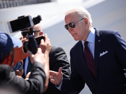 U.S. President Joe Biden talks with reporters while departing the White House June 29, 2021 in Washington, DC. Biden is scheduled to travel to Wisconsin today in support of efforts to pass his infrastructure plan. (Photo by Win McNamee/Getty Images)