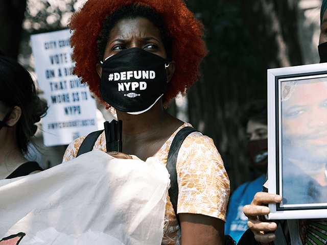 Activists, local politicians and families of those killed by the police hold a rally in front of City Hall to demand that the New York City Council vote against a budget that doesn't make enough cuts to the police department on June 29, 2021 in New York City. New York …