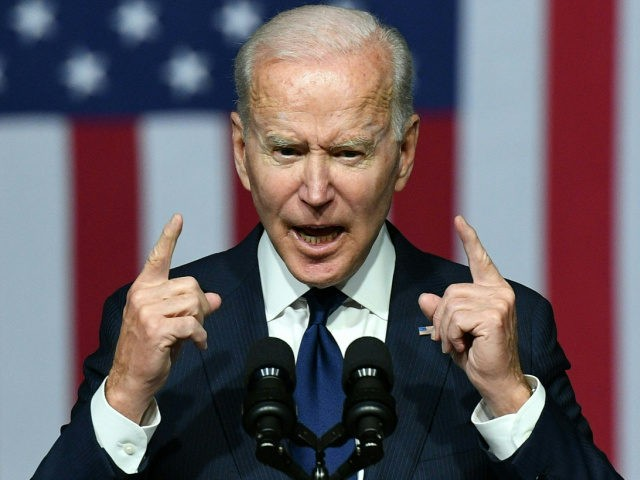 US President Joe Biden speaks during a commemoration of the 100th anniversary of the Tulsa Race Massacre at the Greenwood Cultural Center in Tulsa, Oklahoma, on June 1, 2021. - US President Joe Biden traveled Tuesday to Oklahoma to honor the victims of a 1921 racial massacre in the city …