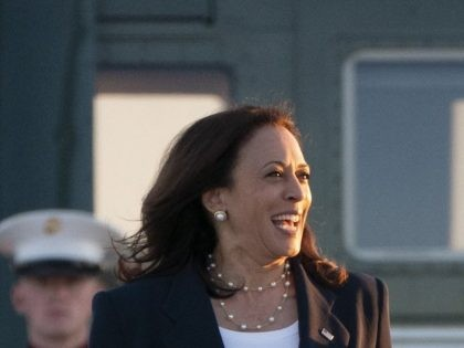 Vice President Kamala Harris, left, walks to board Air Force Two, Friday, June 25, 2021, at Andrews Air Force Base, Md., en route to El Paso, Texas. (AP Photo/Jacquelyn Martin)