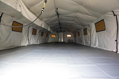 Inside soft-sided migrant detention facility in Laredo Sector. (Photo: U.S. Border Patrol/Laredo Sector)